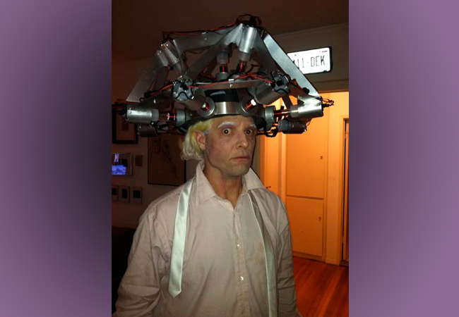 Doc Brown helmet