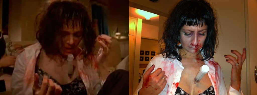 I know it seems like a lot of effort for a Halloween costume but when youu0027re walking around at a party or youu0027re on Santa Monica Blvd at the ...  sc 1 st  Johanna Jenkins u2013 Production Designer & Johanna Jenkins u2013 Production Designer | My Mia Wallace Costume ...