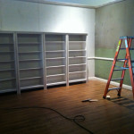 Shelves are installed