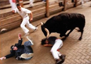 Jon Running with the Bulls